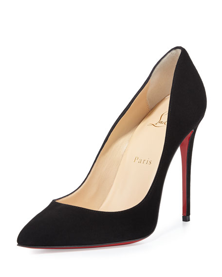 0756ae4c960 Pigalle Follies Suede Red Sole Pump Black
