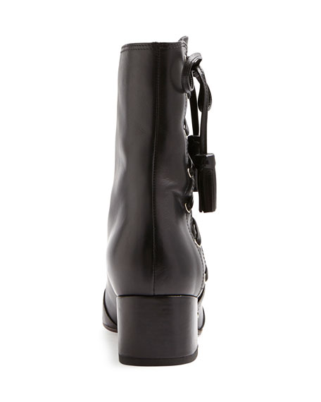 Marcella At Town Center: Laurence Dacade Marcella Side-Lace Leather Boots, Black