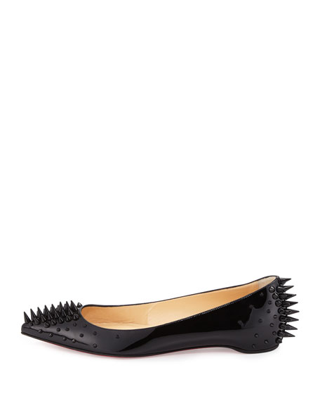 Goldoflat Spiked Red Sole Skimmer, Black