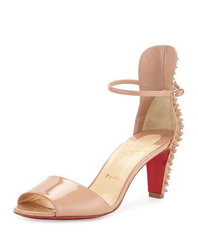 6efa94d193e2 christian louboutin miziggoo spiked 120mm red sole sandal