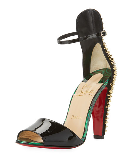 christian louboutin bikee deck studded suede platform red sole sandal