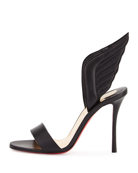 f3157b3d860 Samotresse Wings Red Sole Sandal Black
