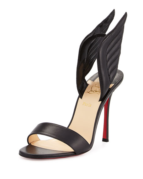 Christian Louboutin Samotresse Wings Red Sole Sandal, Black