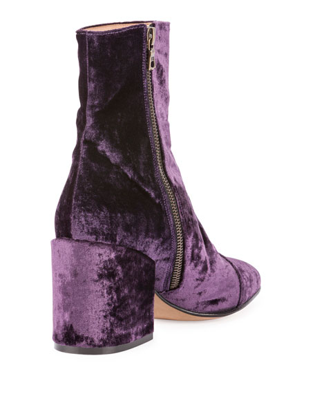 0e9894efd3 Dries Van Noten Crushed Velvet 80mm Ankle Boot