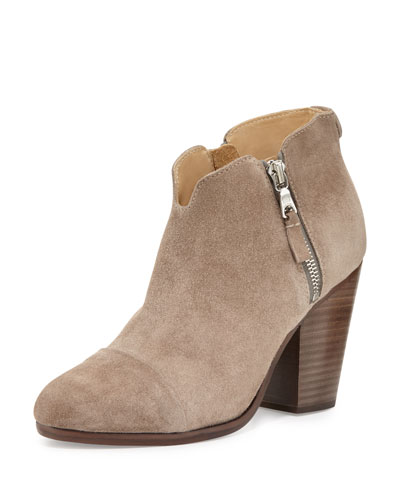 Margot Side-Zip Ankle Boot, Warm Gray