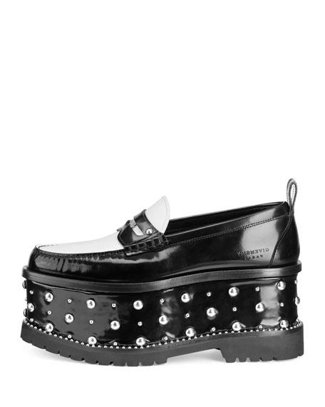 Cambridge Studded Platform Loafer, Black