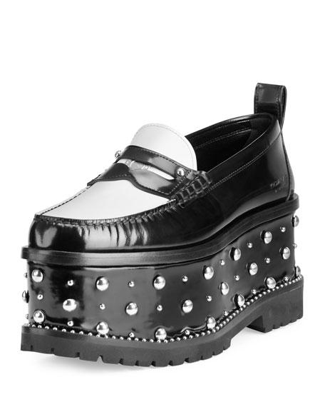 Givenchy Cambridge Studded Platform Loafer, Black