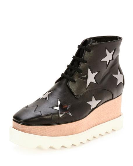c4acbd652ab Stella McCartney Elyse Stars Faux-Leather Platform Boot