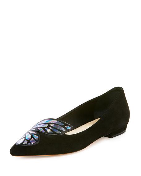Watercolor Bibi Wing Flat, Black/Multi