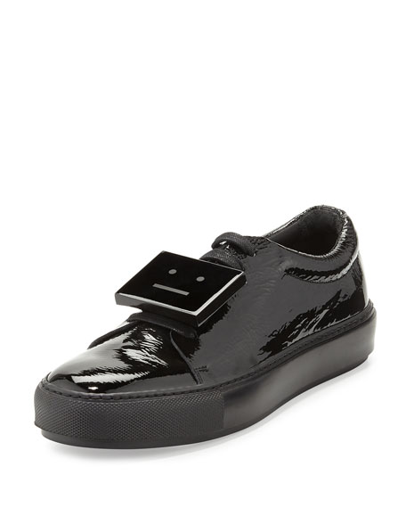 Acne Studios Patent Leather Sneakers best prices online uYPGOIQo