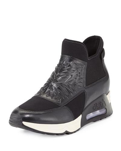 Lazer Waxed Napa Sneaker, Black