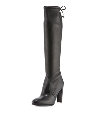 Keenland Napa Leather Knee Boot, Black (Nero)