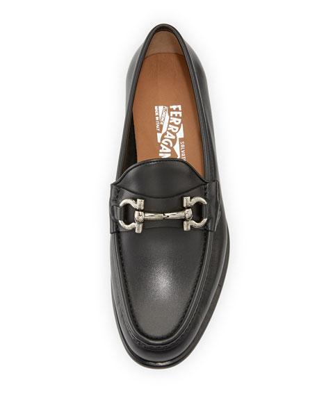 Gancio Bit-Strap Loafer, Black (Nero)