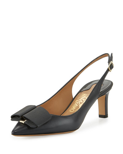 Mimmi Slingback Bow Pump, Smoke