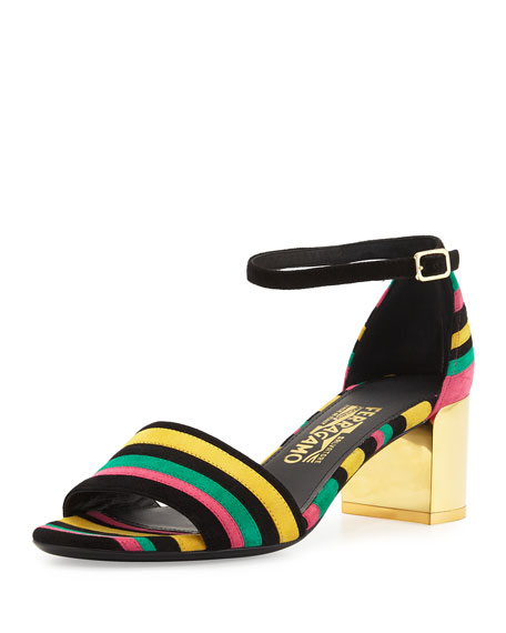Salvatore Ferragamo striped sandals shipping discount sale outlet view footlocker finishline sale online shop for online sale fashionable 9ZcEdLUH0M