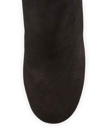 Garett Suede Block-Heel Boot, Black