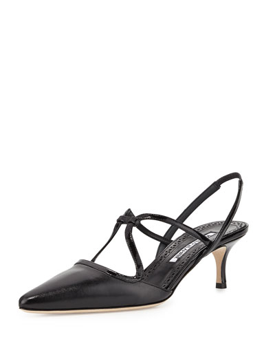 Umbusus Looped Slingback Pump, Black