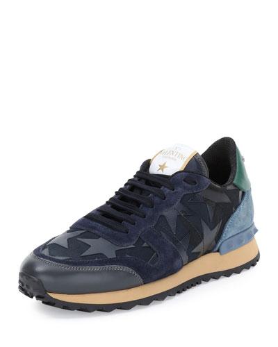 Star-Embellished Colorblock Sneaker, Marine
