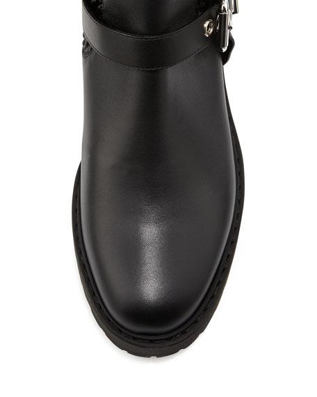 3cd9d27f505 Fendi Smocked Leather Over-The-Knee Biker Boot