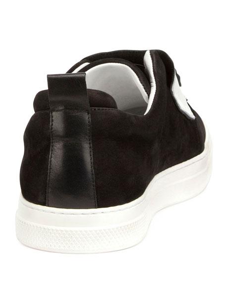 Gem Slider Suede Sneaker, Black