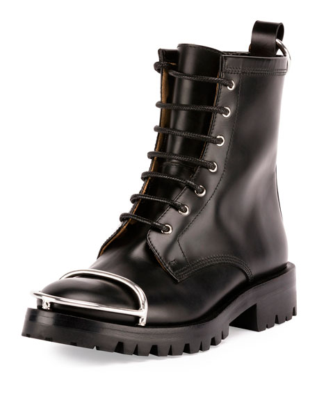 Alexander Wang Lyndon Box Leather Combat Boots y6ufqhE8