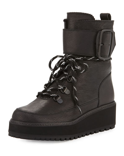 Attackit Leather Hiker Boot, Nero