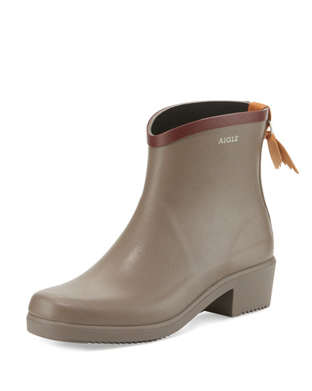 Miss Juliette Rubber Ankle Boot, Taupe