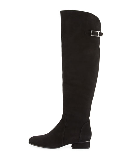 Lala Suede Over-the-Knee Boot, Black