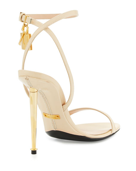 b6c8a1d0fa9 TOM FORD Patent Leather Ankle Lock Sandal
