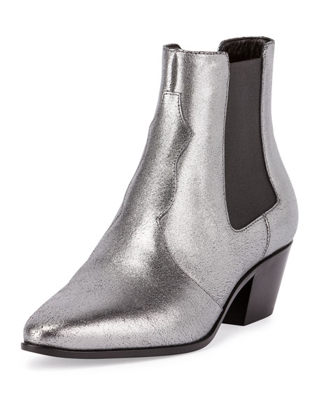 863361b8170 Saint Laurent Metallic Rock Star Chelsea Boot