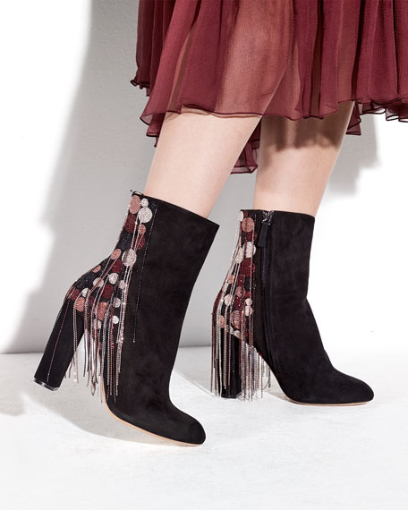 Chloé Bead-Fringe Suede Boots cheap very cheap CWLCzh