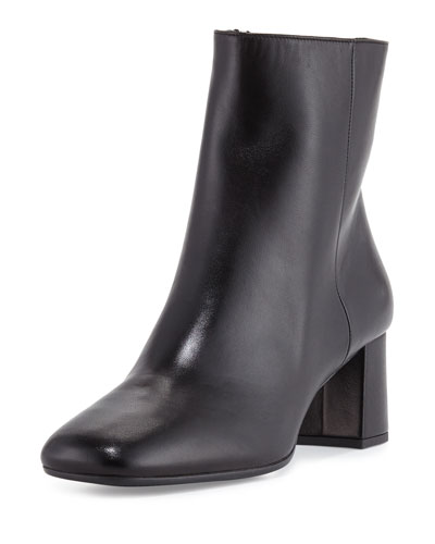 Leather 55mm Ankle Boot, Black (Nero)