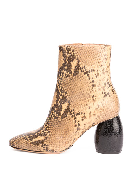 6532180cad Dries Van Noten Snake-Embossed Leather Ankle Boot