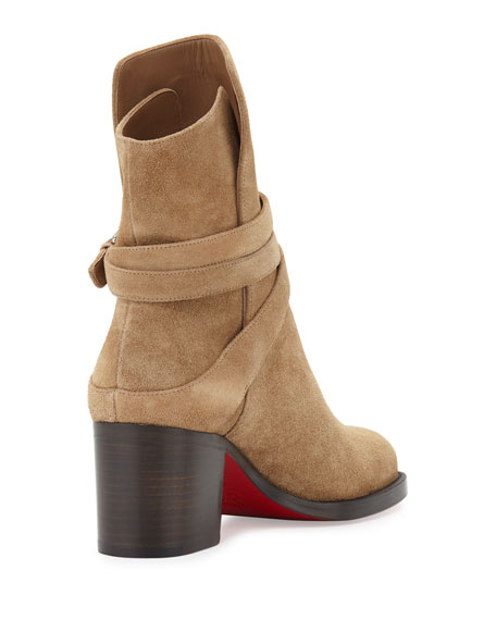 67346ac6059 Karistrap Suede Red Sole Boot Camel