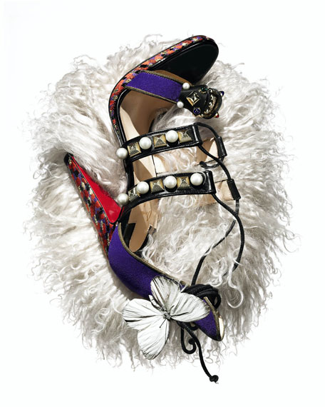 Tudor Lace-Up Red Sole Sandal, Purple Pop