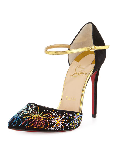 Rivierina On Fire 100mm Suede Red Sole Pump