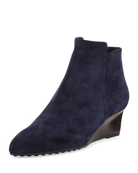 Tod's Suede Wedge Booties discount clearance outlet supply outlet cheap classic for sale clearance great deals xcB6CS