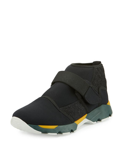 Neoprene High-Top Sneaker, Black