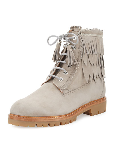 The Boho Heilbrunner Fringed Boot, Gray