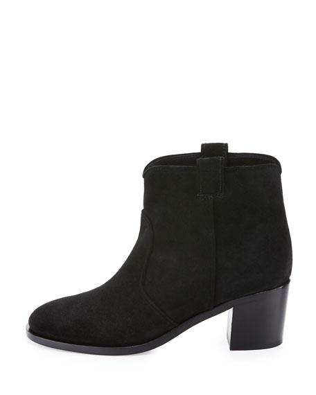 Belen Suede Ankle Boot, Black