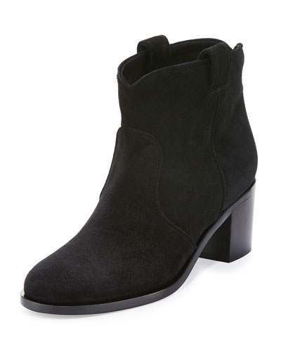 Belen Suede Ankle Boot, Black