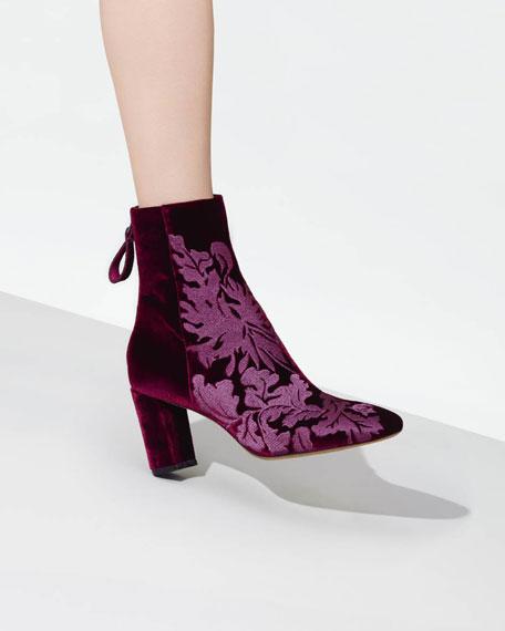 Regina Embroidered Velvet Boot