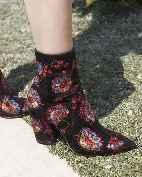 best prices Loeffler Randall Isla Embroidered Ankle Boots cheap outlet locations cheap price from china find great online buy cheap explore naeCiP