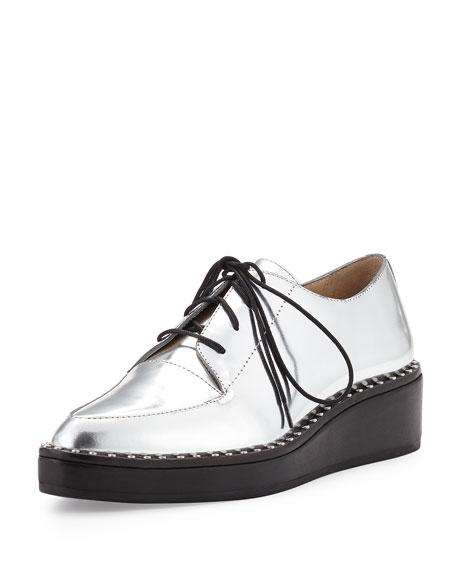Loeffler Randall Metallic Lace-Up Oxfords extremely cheap price Inexpensive online 7WTZZ1M62f
