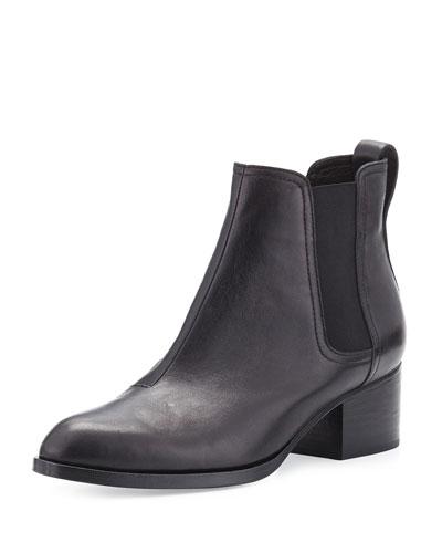 Walker Leather Ankle Boot, Black