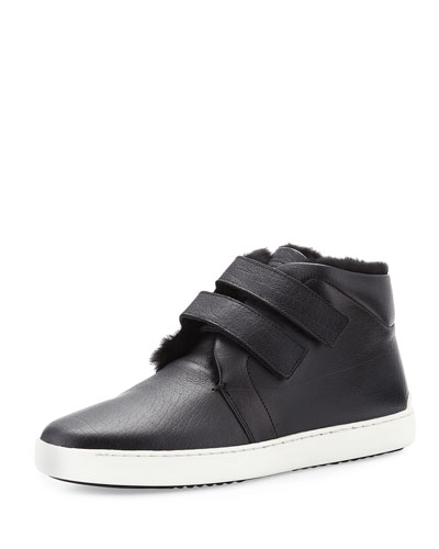 Kent Shearling-Lined Sneaker, Black