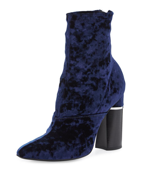 3.1 Phillip Lim Kyoto Crushed Velvet Boot, Royal
