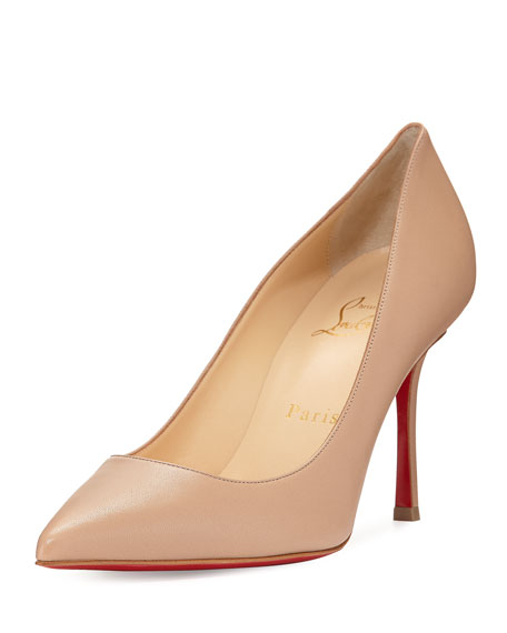 Decoltish Leather Red Sole Pump, Neutral