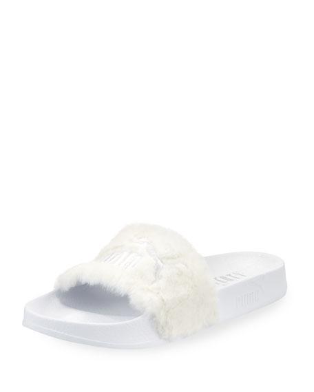 cc680f7216a0aa Fenty Puma by Rihanna Leadcat Fenty Faux-Fur Slide Sandal