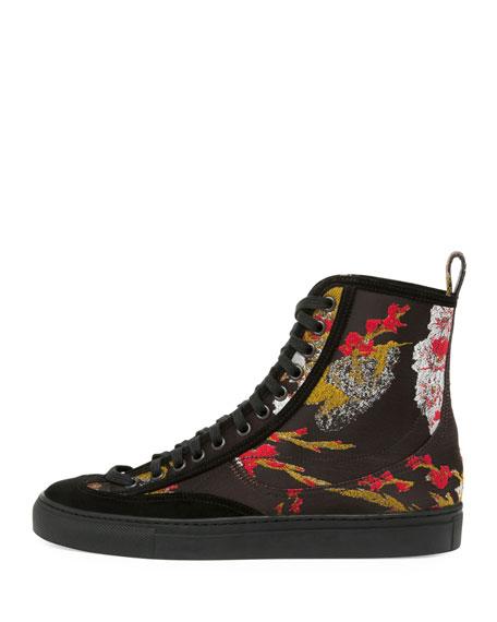 25255fe91d3 Dries Van Noten Embroidered High-Top Sneaker
